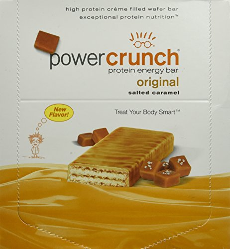 Caramel Vanilla Fudge - Bionutritional Research Group Power Crunch Salted Caramel, 12 Count