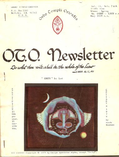 O.T.O. Newsletter Vol. II (2), No's. 7 & 8. (Double Issue) (OTO)