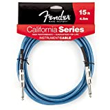 Fender 15 Feet California Instrument Cable - Lake Placid Blue (990515002)