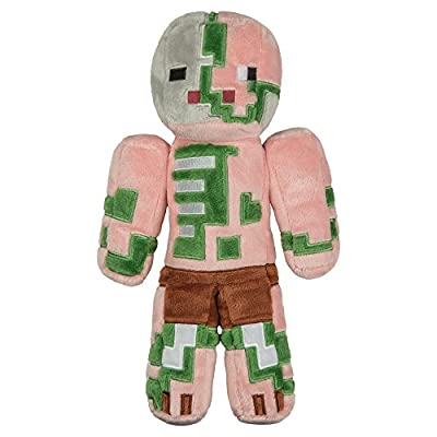 """JINX Minecraft 12"""" Zombie Pigman Plush Stuffed Toy (Unboxed with Hang Tag)"""