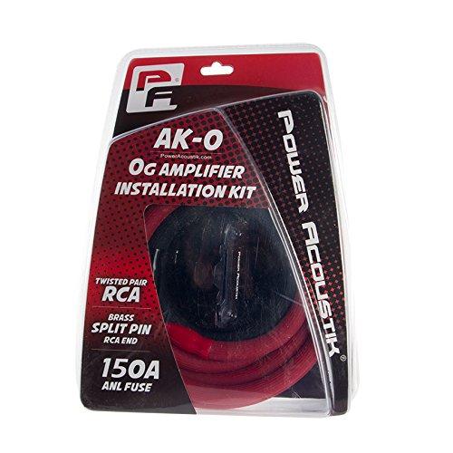 Power Acoustik AK-0 0 Gauge Amp Wire Kit with 17 RCA 200A Anl Fuse