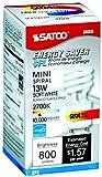 Satco S8203 Mini Spiral Compact Fluorescent Light Bulb, 13 Watt, 2700 Kelvin Temperature, 82 CRI, GU24 Base, 120 Volts, Pack of 6, Warm White Color