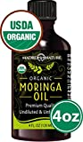 Cheap Moringa Oil By Madre Nature – 100% USDA Organic Certified Pure Moringa Oil – Cold Pressed, Unrefined, Undiluted Moringa Oleifera – Non-GMO, Vegan Moringa Seed Oil For Face, Hair, Skin 4oz MADE IN USA