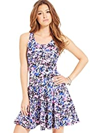 Fit-and-Flare Dress,Multi-Colored,Small