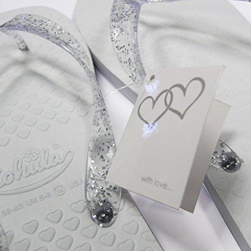 Zohula Mariage tongs blanc Party Pack - 20 paires de tongs tailles mixtes blanc et comprend osier Présentation panier - 3 x 35-37, 12 x 38-39, 5 x 40-42