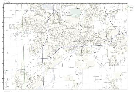 Amazoncom ZIP Code Wall Map of Joliet IL ZIP Code Map Not