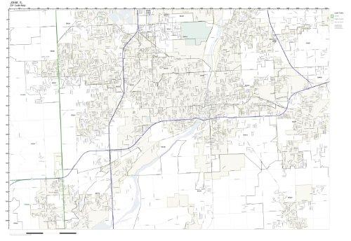 Joliet Il Zip Code Map.Amazon Com Zip Code Wall Map Of Joliet Il Zip Code Map Not