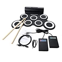 Nicebee New Digital Electronic Roll-up Portable Mini Drum Pad Set with Built-in Speaker