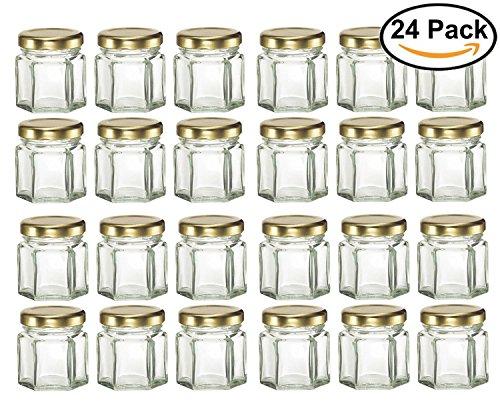 mini hexagon glass jars