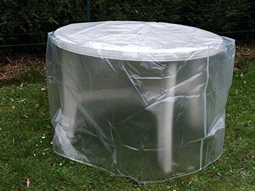 Housse De Protection Translucide Table Ronde Ø120 Cm ...