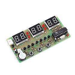 IS Icstation 6 Digit Electronic Digital Alarm Clock Assemble Kits DIY Electronics Practice Set AT89C2051 Chip