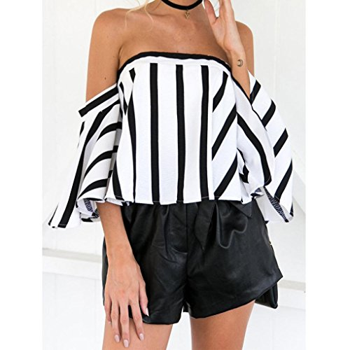 Ray Top Femme Blouse Shoulder Casual Blanc Imprim Paules Blouse Overdose Off Chic DNudEs EA4Inq8xwx