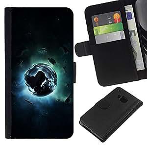 All Phone Most Case / Oferta Especial Cáscara Funda de cuero Monedero Cubierta de proteccion Caso / Wallet Case for HTC One M9 // Abstract Space