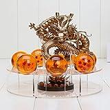 Gold Dragon Ball Z Action Figures Dragonball Z Figures Set Esferas Del Dragon + 7pcs 4cm PVC Balls + Shelf