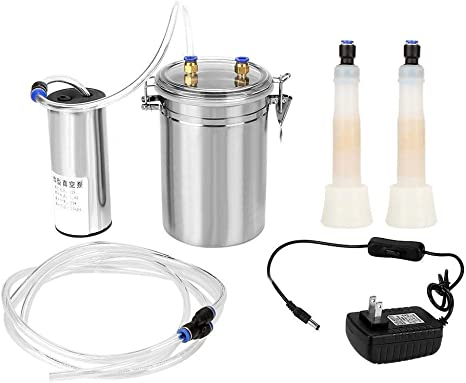 2L Electric Milking Machine Vacuum Pump Strong Suction Milker Tank For Cow Farm