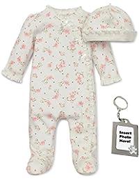 Preemie Newborn Baby Footie Sleep and Play Pajamas Footed Sleeper Hat for Boys and Girls