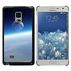 Luna Azul Sobre Las Nubes - Metal de aluminio y de plástico duro Caja del teléfono - Negro - Samsung Galaxy Mega 5.8