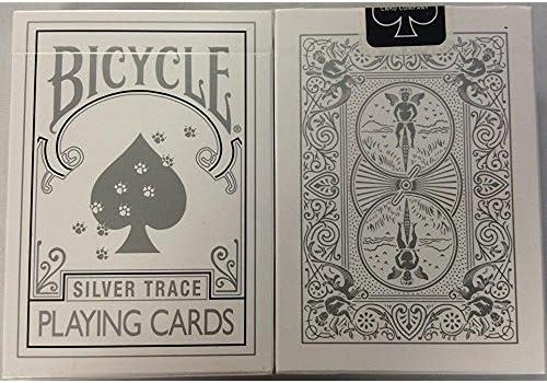 珍しい自転車SILVER TRACEのデッキプレイングカード Rare Bicycle SILVER TRACE Deck Playing Cards