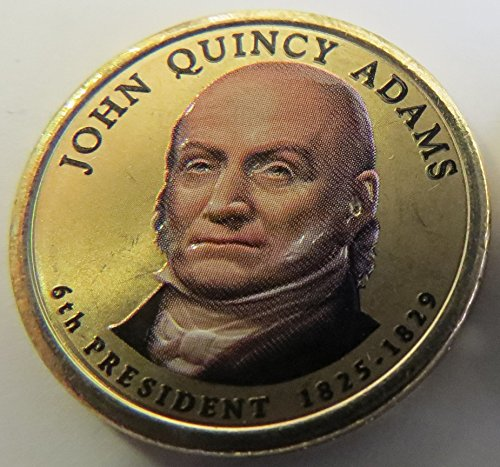 2008 Various Mint Marks Quincy Adams Presidential Colorized Dollar Choice Uncirculated