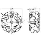 96mm High Hardness Plastic Mecanum Wheel 15KG Load