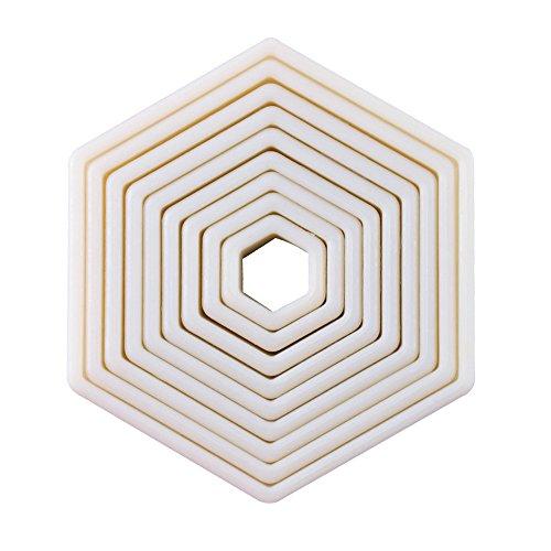 9-Piece Hexagon Nylon Cookie Cutter Set (Hexagon) (Cutter Cookie Octagon)