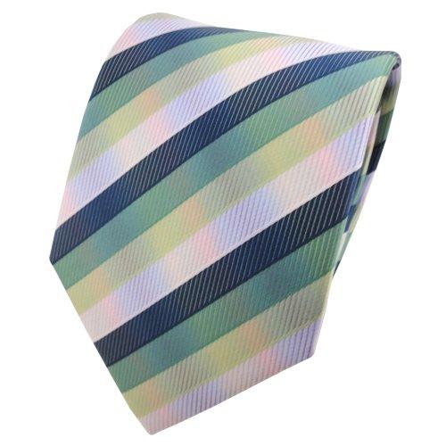 TigerTie Designer cravate multicolore vert rayé - Tie