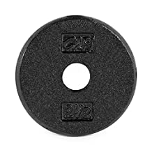 CAP Barbell Standard 1-Inch Cast Iron Weight Plate, Black, Single