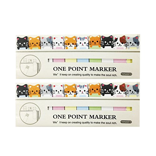 Wrapables A67779 Bookmark Flag Tab Sticky Notes, Kitties, Set of 2 Kitty Notepad