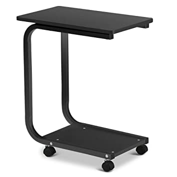 Superior Go2buy Modern U Shaped Side Table With Removable 4 Wheels Small Coffee  Tables For Living