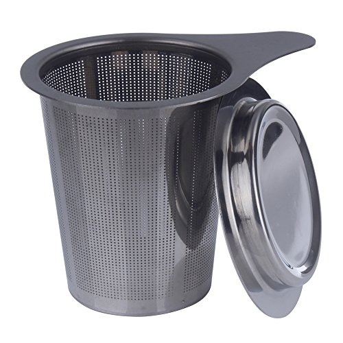 Z ZICOME Stainless Steel Tea Infuser Strainer, Fine Mesh, Tea Filter with Lid