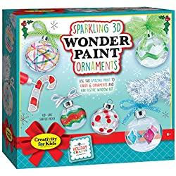 Creativity For Kids Sparkling 3D Wonder Paint Kit - Make Your Own Holiday Ornaments (New Packaging)