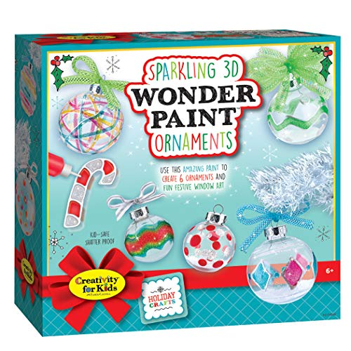 Creativity for Kids 1134000 Creativity For Kids Sparkling 3D Wonder Paint Kit - Make Your Own Holiday Ornaments (New Packaging) Multicolor]()