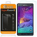 [2-Pack] Samsung Galaxy Note 4 Screen Protector Tempered Glass, SuperGuardZ, 9H, 0.3mm, 2.5D