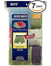 Boys' Boxer Brief (Pack of 7) (X-Large, Fabric Covered...