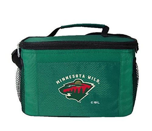 fan products of New NHL Hockey 2014 Team Color Logo 6 Pack Lunch Tote Bag Cooler - Pick Team (Minnesota Wild)