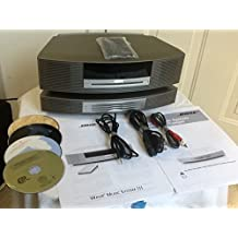 Bose Wave Music System iii CD Radio and Bose Wave Music System Multi-CD Changer Accessory with Remote, Printed Manual and Audio Connector Cables. Very Good Condition