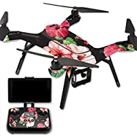 MightySkins Protective Vinyl Skin Decal for 3DR Solo Drone Quadcopter wrap cover sticker skins Hibiscus