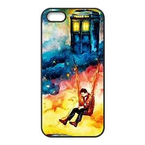 Cokitec-Carcasa para iPhone 5S, diseño de cabina telefónica de Doctor Who Tardis Durable Back Case Cover for iPhone 5S-Carcasa para iPhone 5/5S