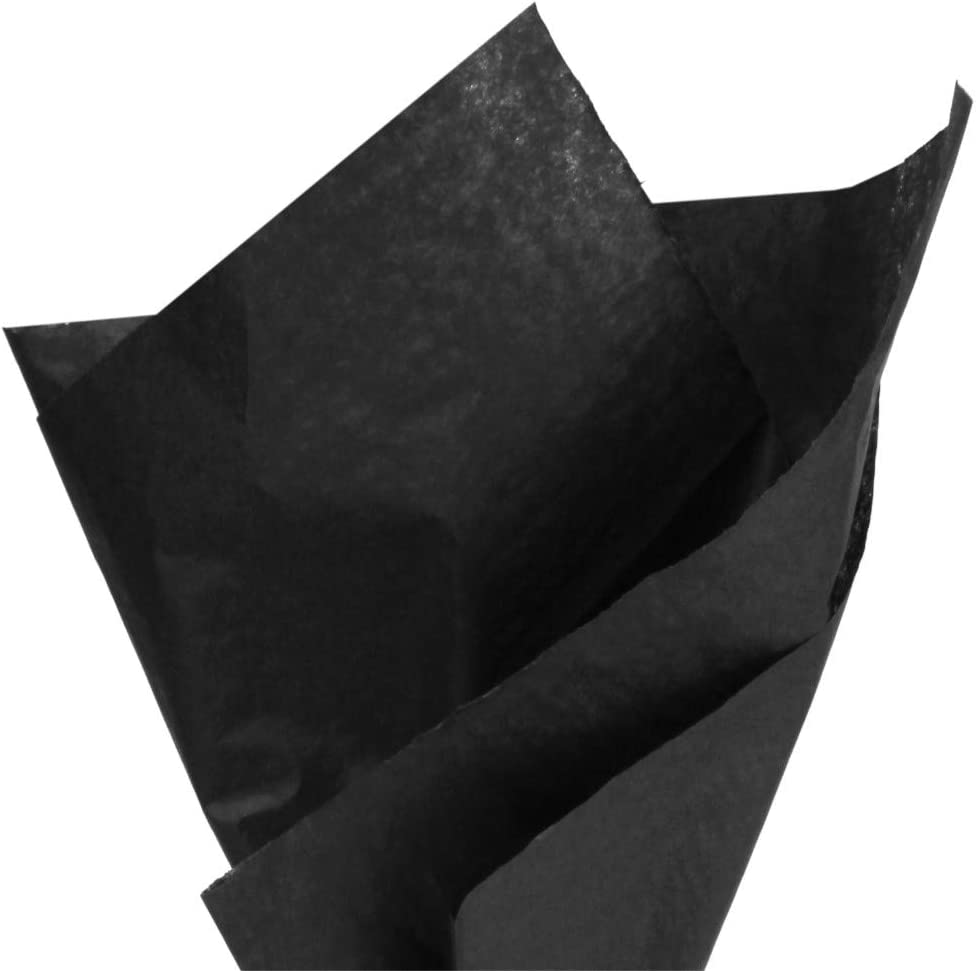 PMLAND Premium Quality Gift Wrapping Paper - Black - 15 Inches X 20 Inches 100 Sheets