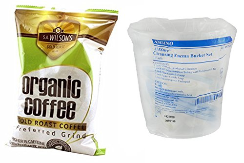 Administration Kit (Organic Enema Coffee (1 Pound) and Bucket Enema Kit)