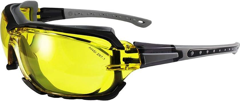 2 Pair Yellow 100/% UV Shooting Glasses Driving Sunglasses Adjustable Stems
