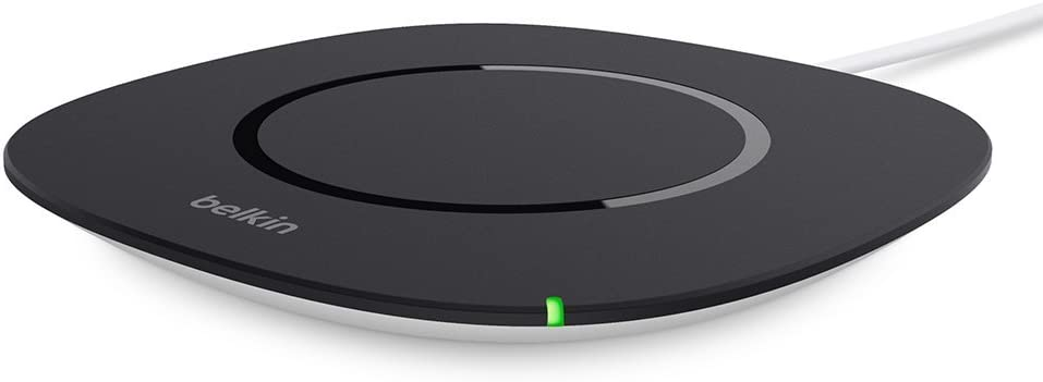 Belkin F8M747bt Boost Up Qi Wireless Charging Pad 5W – Universal Wireless Charger (No AC Adapter), 5W, Black, 5W without adapter