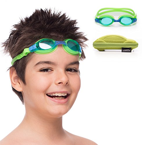Kids Swim Goggles || Swimming Goggles for Kids (Age 2 8 years old) with Fun Car Hardcase for Easy Transportation || Cushioned Frames || Anti Fog Lenses || UV Protection ||