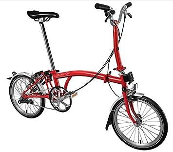 BROMPTON M3L 2017 - Bicicleta plegable de 3 pisos, color rojo