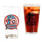 CafePress - Captain America - Pint Glass, 16 oz. Drinking Glass