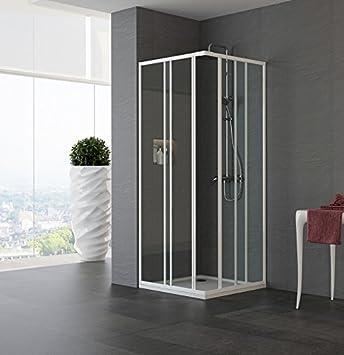 Mampara de ducha en ángulo modelo ágata-acrílico-lacado blanco-185 cm-Compribene 70 x 80 cm: Amazon.es: Bricolaje y herramientas