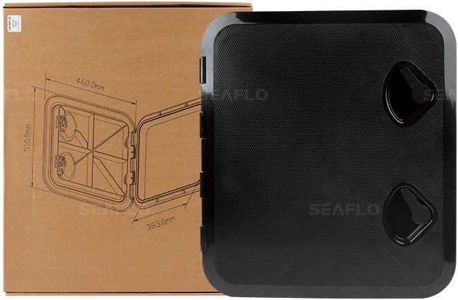 SEAFLO Marine Deck Access Hatch /& Lid 20 x 18 Black