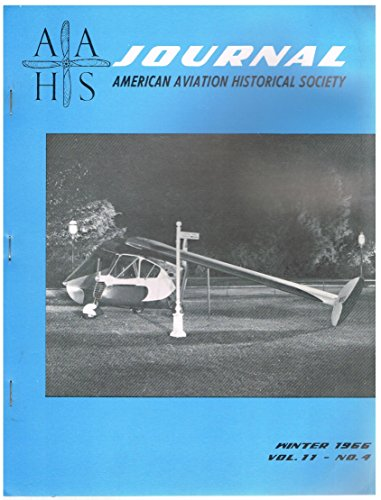 AAHS Journal (Winter 1966) Waterman Gosling Racer / Curtiss P-40 / Cierva C-8 - Curtiss Racer