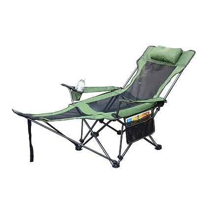 Fabulous Amazon Com Zdcjh Outdoor Camping Folding Bed Lounge Chair Theyellowbook Wood Chair Design Ideas Theyellowbookinfo