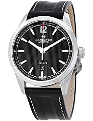 Hamilton Broadway Day Date Auto H43515735 Black / Black Stainless Steel Analog Automatic Mens Watch